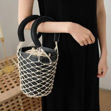 bucket bag basket drawstring bag black bag edgability detail view