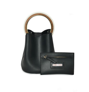 black bag bucket bag luxury bag wristlet edgability pouch