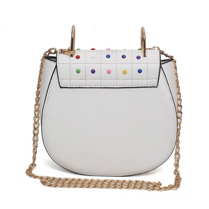 multicoloured studded bag classy bag edgability back view