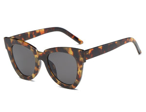 leopard sunglasses retro shades edgy fashion edgability front view
