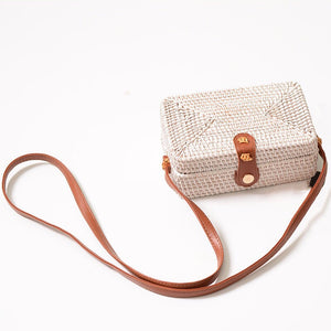 box bag rattan bag travel white bag edgability