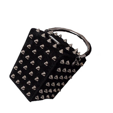 black bag studded bag vintage bag edgability angle view