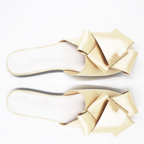 classy bow gold flats top view egdability