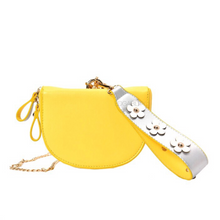 yellow sling bag and petals strap edgability