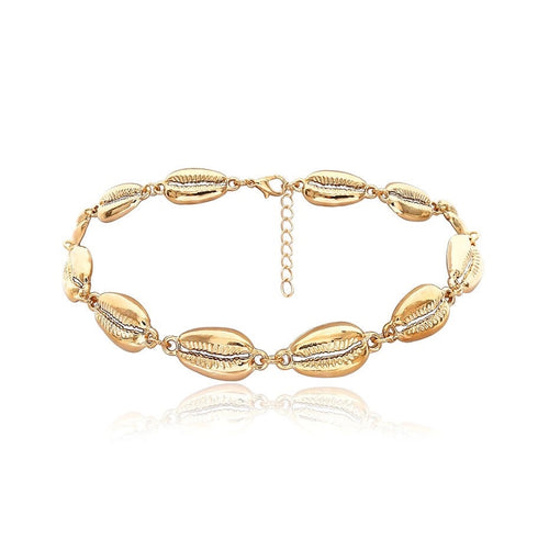 cowry shells gold choker necklace edgability