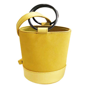 yellow bag bucket bag minimalist fashion edgability