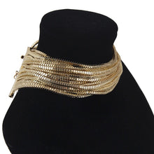 gold choker layered necklace edgability side view