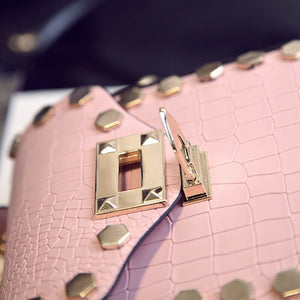 studded bag croc skin bag edgability detail view