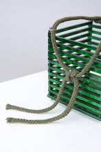travel acrylic green bucket box bag edgability side view
