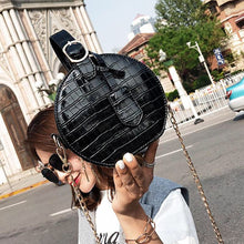 black bag croc skin bag round bag box bag edgability size view