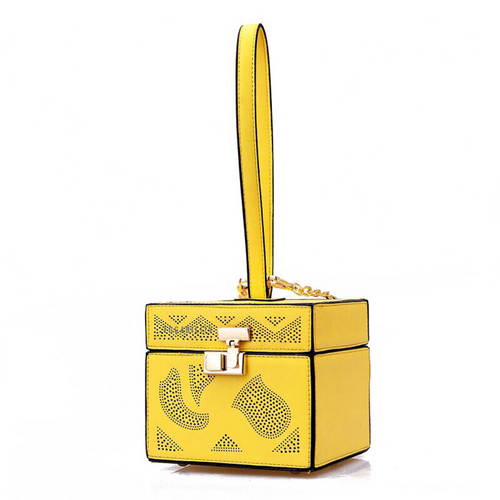 yellow bag box bag vintage bag edgability