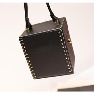 black studded bag box bag edgability back view
