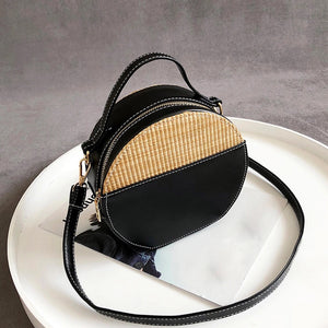 rattan bag black bag round bag edgability top view