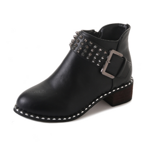 rivets buckle black boots edgability single view