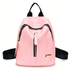 millennial pink mini backpack edgability front view