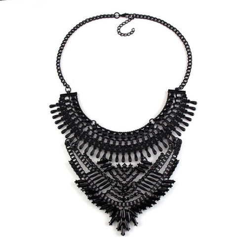 black statement necklace edgy fashion edgability