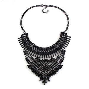 layered black statement necklace top view edgability