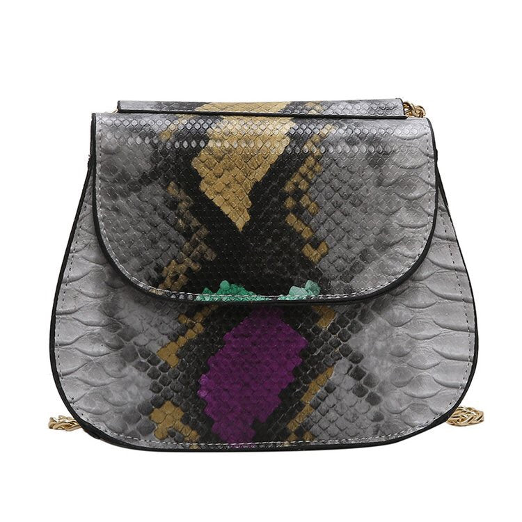 classy grey snakeskin bag edgy fashion edgability