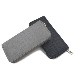 croc skin grey wallet for women edgability