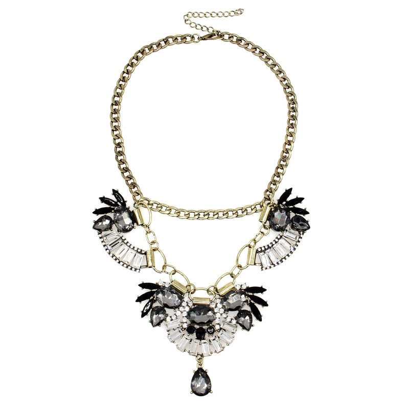 floral necklace crystal statement necklace edgability