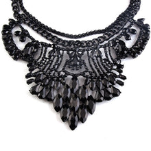 black necklace statement necklace black jewelry edgability detail view