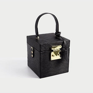 classy leather black box bag edgy fashion edgability full view