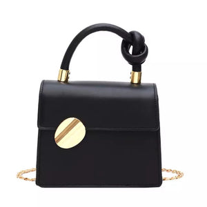 classy formal black bag workwear edgy style edgability front view