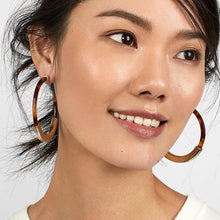 marble earrings statement jewelry chic jewelry edgability model view