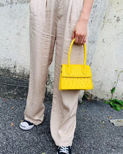 ostrich leather yellow bag edgy fashion edgability size view
