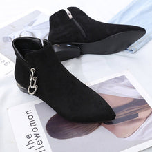 ankle boots black boots silver cut heel edgability top view