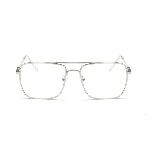 transparent glasses silver frames edgability