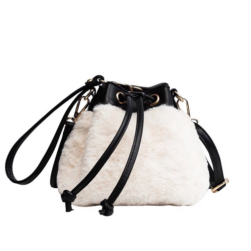 black and white bag fur bag edgability