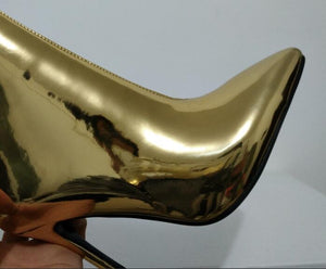 golden boots with heels edgability detail view