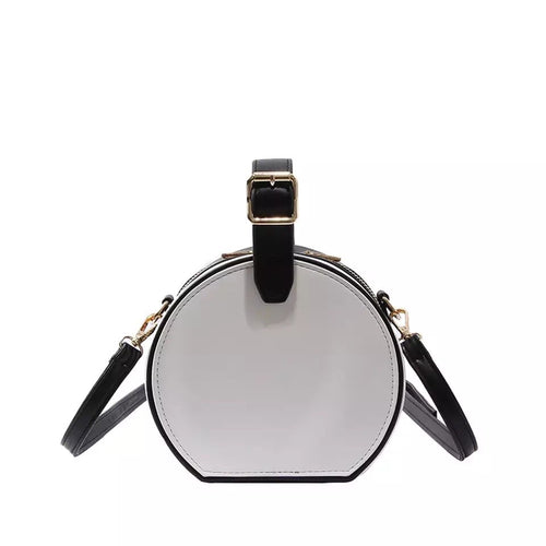 box bag round bag black bag with buckle edgability