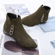ankle boots flat boots silver cut heel edgability top view