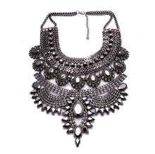gunmetal layered statement necklace top view edgability