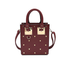 heart rivets studded handbag edgability