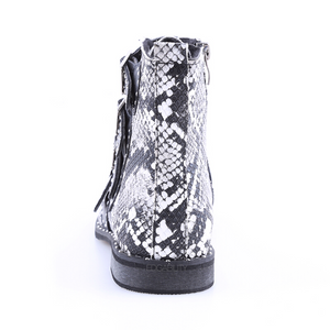 snakeskin ankle boots edgability back view