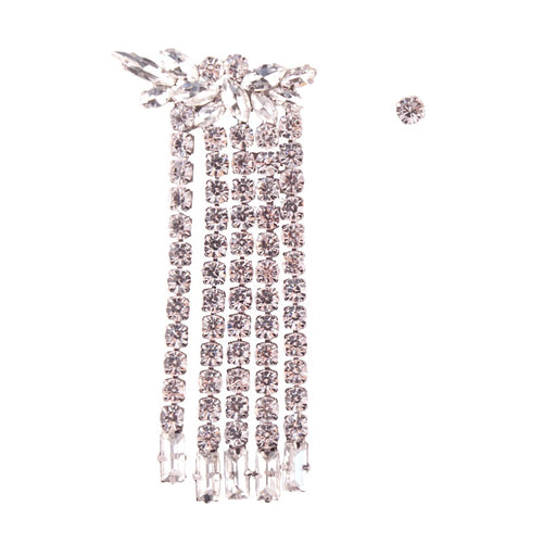 classy floral crystal statement earrings