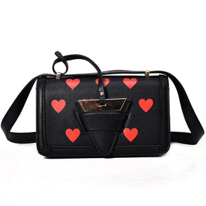 black bag hearts sling bag edgability