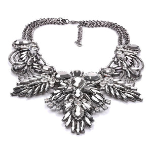 dark silver statement necklace edgy fashion edgability detail view aerial view