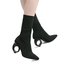 socks boots black boots edgability model view