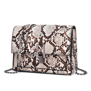 affordable brown beige snakeskin sling bag edgability