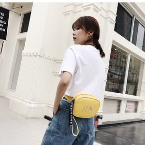 yellow bag waist bag fanny pack edgability model view