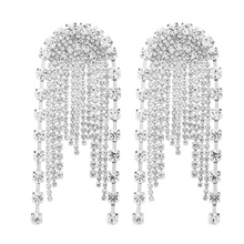 crystal studded chandelier statement earrings edgability