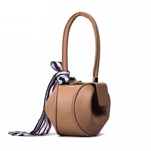 brown bag round bag mini bag clutch bag edgability