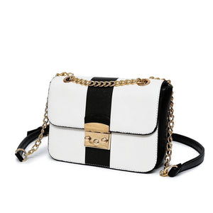 black and white bag classy bag edgability angle view