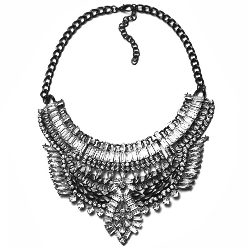 silver necklace layered statement jewelry edgability
