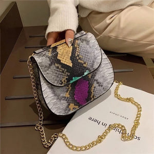 classy grey snakeskin bag edgy fashion edgability front view
