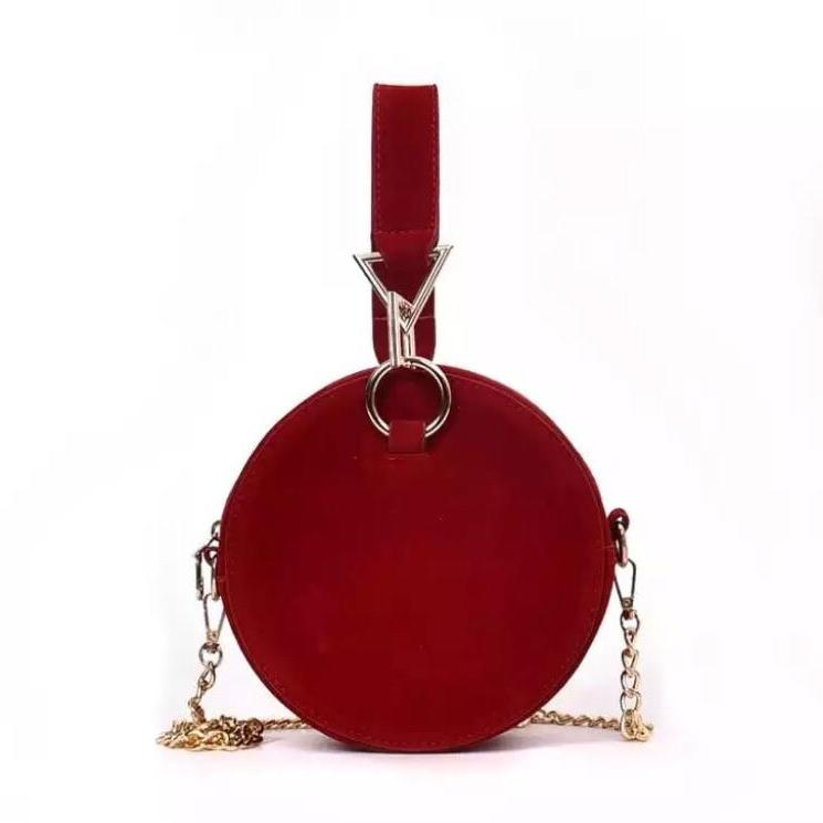round bag sling bag red bag edgability